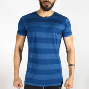 Dri-Stretch Round Neck Gym T-shirt - Navy Blue | Devoted Gym Wear & SportsWear - Front