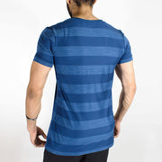 Dri-Stretch Round Neck Gym T-shirt - Navy Blue | Devoted Gym Wear & SportsWear - Back