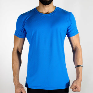 Hybrid T-shirt - Devoted Gym wear & sportswear - Blue - Front