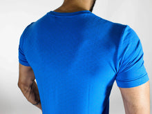 Hybrid T-shirt - Devoted Gym wear & sportswear - Blue - Back Close Up
