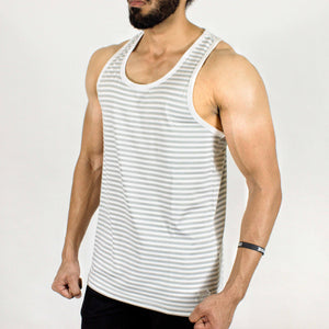 Devoted Dri-Stretch Stringer (Gym Sando/Vest) - White - Devoted Wear & Sportswear - Side
