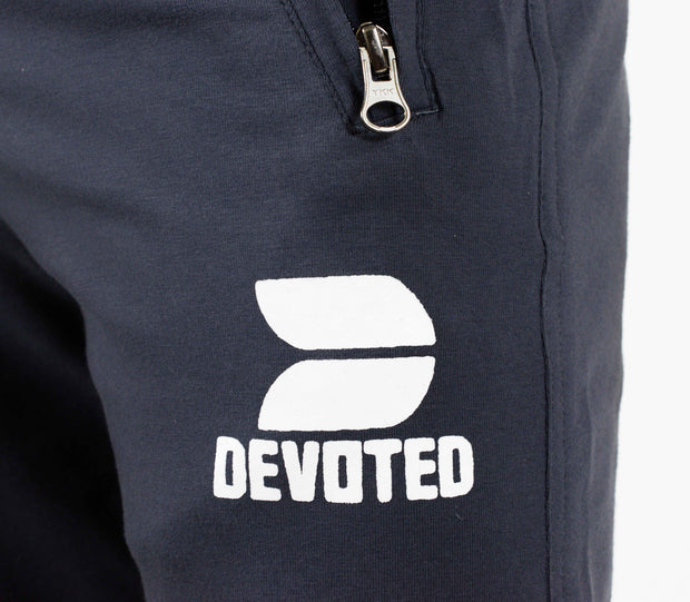 Devoted Allure Joggers - Gym Wear & Sportswear | Super Flexible - Ultra Soft, Smooth & Amazing - Design closeup with YKK zip