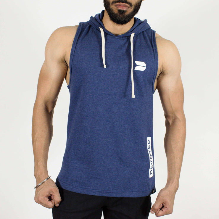 Devoted Allure Sleeveless Hoodie - Sapphire Blue Stretch-Muscle Fit | Gym Wear & SportsWear - Front
