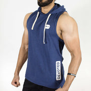 Devoted Allure Sleeveless Hoodie - Sapphire Blue Stretch-Muscle Fit | Gym Wear & SportsWear - Side