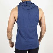 Devoted Allure Sleeveless Hoodie - Sapphire Blue Stretch-Muscle Fit | Gym Wear & SportsWear - Back