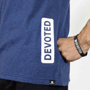 Devoted Allure Sleeveless Hoodie - Sapphire Blue Stretch-Muscle Fit | Gym Wear & SportsWear - Closeup