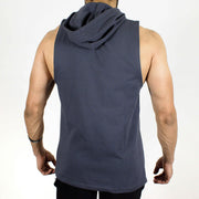 Devoted Allure Sleeveless Hoodie - Gym Wear & Sportswear - Stone | Stretch-Muscle Fit - Back
