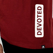 Devoted Allure Sleeveless Hoodie - Maroon - Gym Wear & Sportswear | Stretch-Muscle Fit - Close up