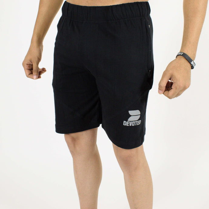 Allure Active Shorts - Devoted Gym wear & Sportswear - Black - Front
