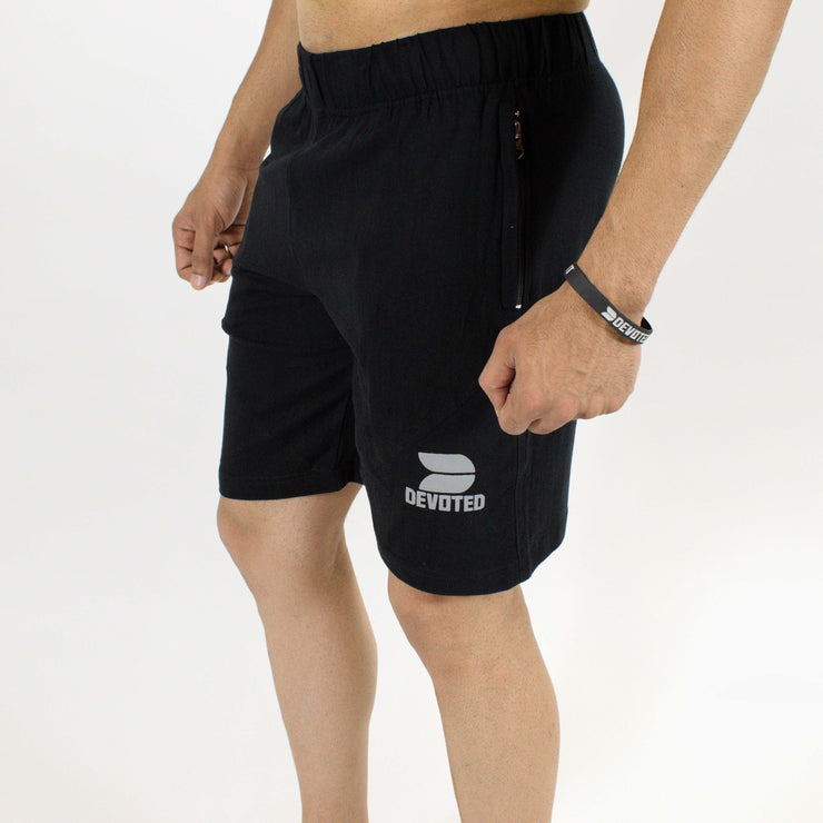Allure Active Shorts - Devoted Gym wear & Sportswear - Black - Side