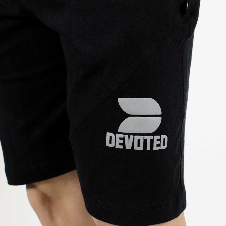 Allure Active Shorts - Devoted Gym wear & Sportswear - Black - Close up