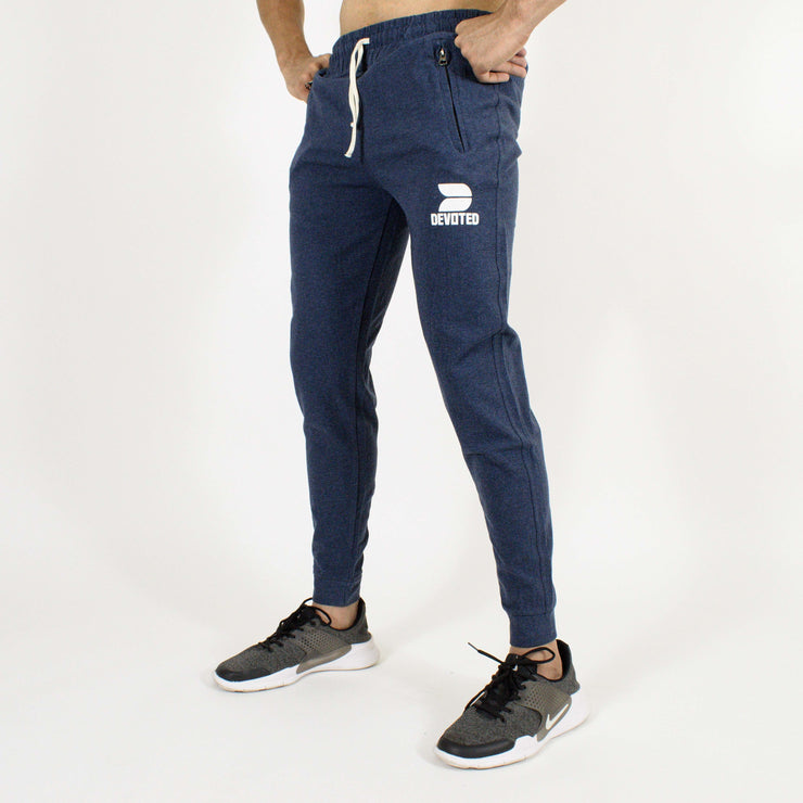Devoted Allure Sapphire Blue Joggers - Gym Wear & Sportswear | Super Flexible - Ultra Soft, Smooth & Amazing - Side