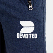 Devoted Allure Sapphire Blue Joggers - Gym Wear & Sportswear | Super Flexible - Ultra Soft, Smooth & Amazing - Close up