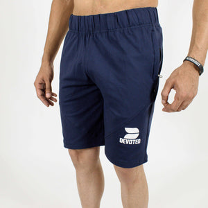 Allure Active Shorts - Devoted Gym wear & Sportswear - Navy Blue - Front