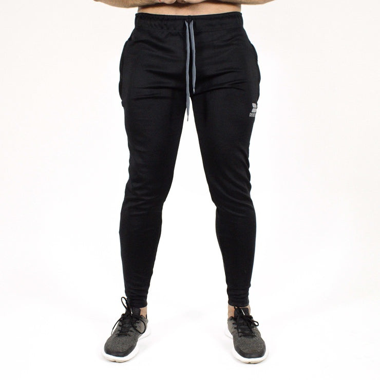 Devoted Dri-Stretch Joggers/Bottoms/Lower/Track pants - Gym Wear & Sports Wear | Super Flexible, Ultra Soft, Smooth, dry fit & Amazing - Black front