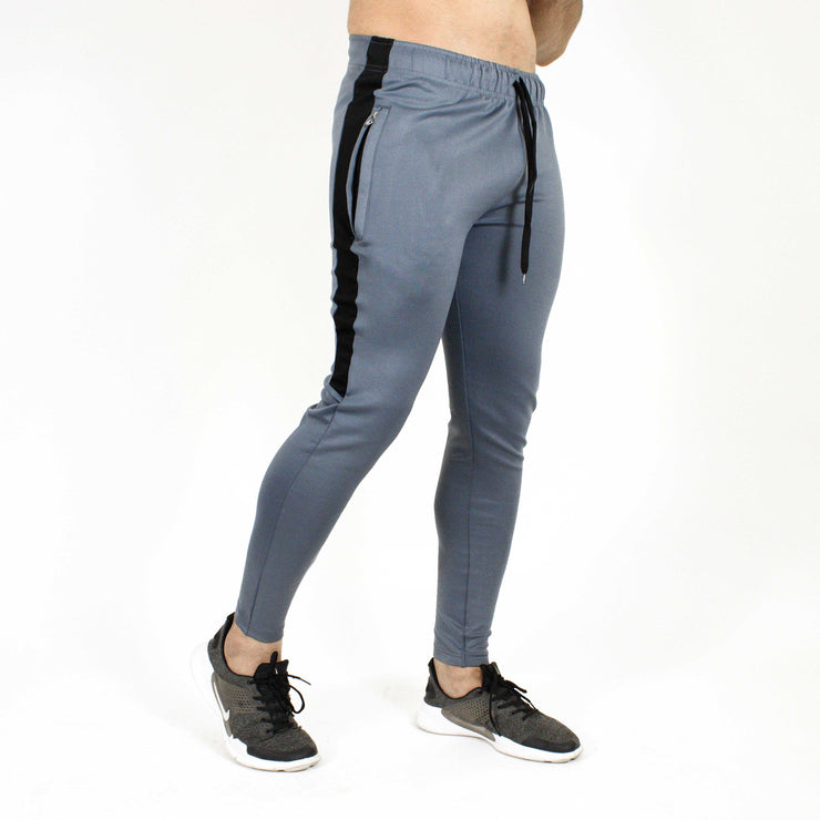 Devoted Dri-Stretch Joggers/Bottoms/Lower/Track pants - Gym Wear & Sports Wear | Super Flexible, Ultra Soft, Smooth, dry fit & Amazing - Grey Side