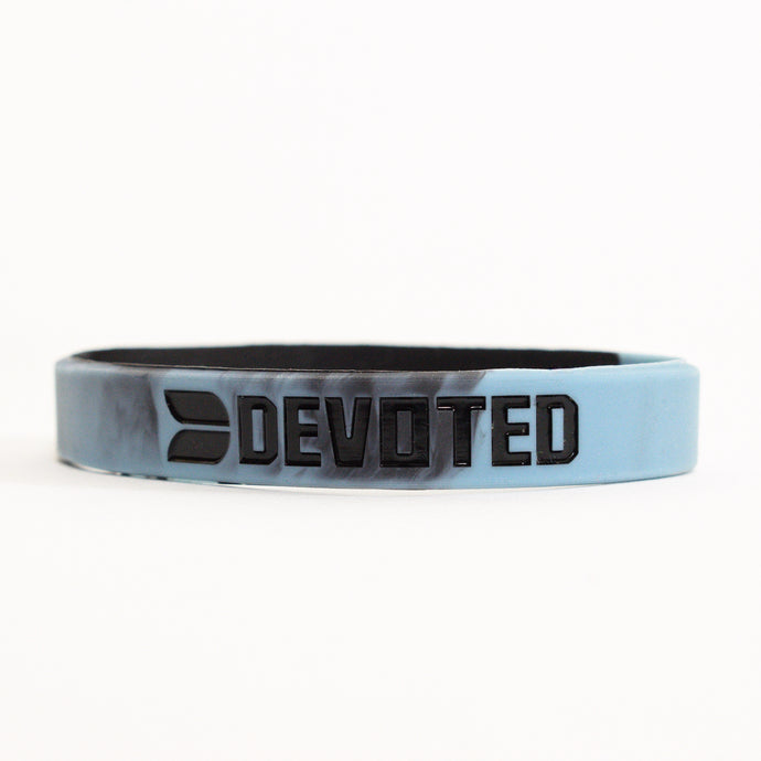 Devoted wear Blue Camouflage Band | Silicone band | Live Your Workout | Gym Wear & SportsWear