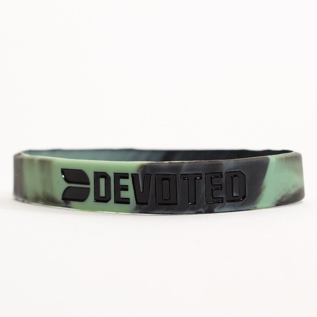 Devoted wear Army Green Camouflage Band | Silicone band | Live Your Workout | Gym Wear & SportsWear