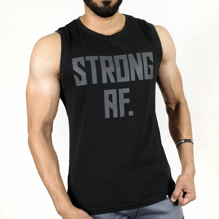 Allure Sleeveless T-shirt - Gym Wear - Black - Devoted Wear | Sports Wear - Front