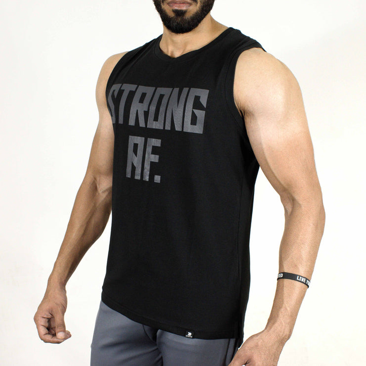 Allure Sleeveless T-shirt - Gym Wear - Black - Devoted Wear | Sports Wear - Side