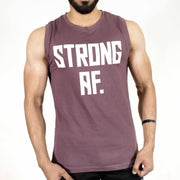 Allure Sleeveless T-shirt - Gym Wear - Mauve (Purple) - Devoted Wear | Sports Wear - Front