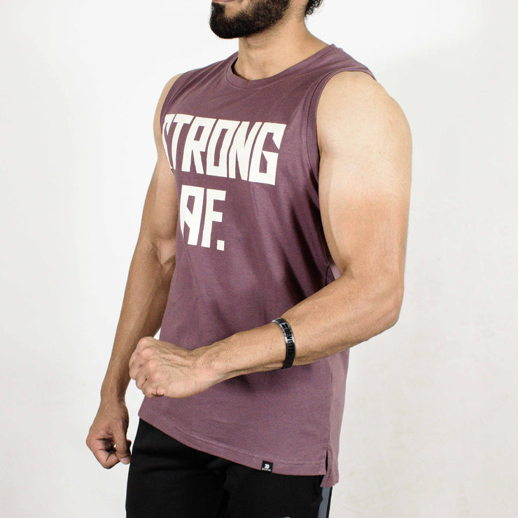 Allure Sleeveless T-shirt - Gym Wear - Mauve (Purple) - Devoted Wear | Sports Wear - Side