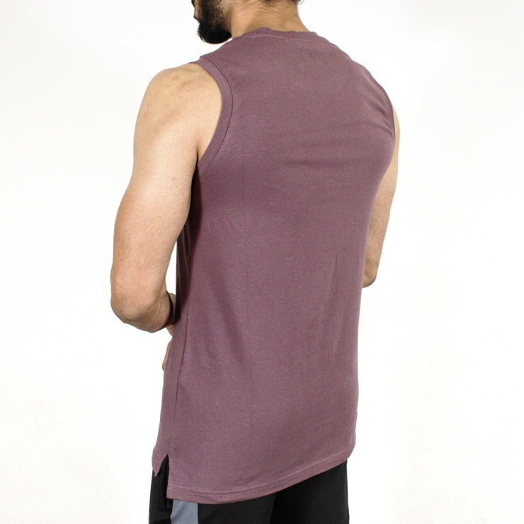 Allure Sleeveless T-shirt - Gym Wear - Mauve (Purple) - Devoted Wear | Sports Wear - Back