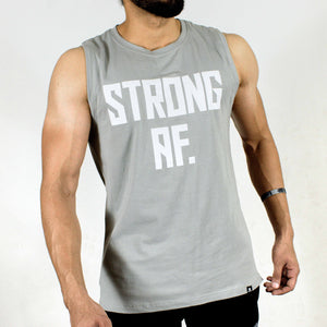 Allure Sleeveless T-shirt - Gym Wear - Silver Grey - Devoted Wear | Sports Wear - Side