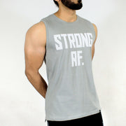 Allure Sleeveless T-shirt - Gym Wear - Silver Grey - Devoted Wear | Sports Wear - Front