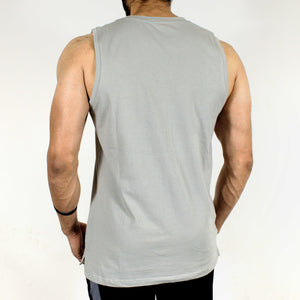 Allure Sleeveless T-shirt - Gym Wear - Silver Grey - Devoted Wear | Sports Wear - Back