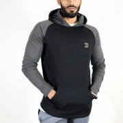 Devoted Sweatshirt Hoodie Black - Muscle Fit Gym wear & sports clothing - Front