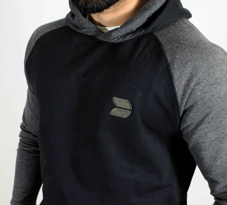 Devoted Sweatshirt Hoodie Black - Muscle Fit Gym wear & sports clothing - Embroidered Logo