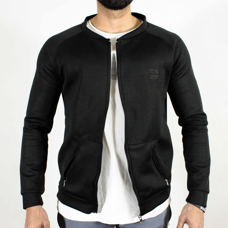 Devoted Lightweight Bomber Jacket Black - Muscle Fit Gym wear & sports clothing - Front