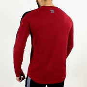 Allure Full Sleeves T-shirt Wine Red - Gym Wear - Devoted Wear | Sports Wear - Back