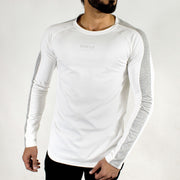 Allure Full Sleeves T-shirt White - Gym Wear - Devoted Wear | Sports Wear - Front
