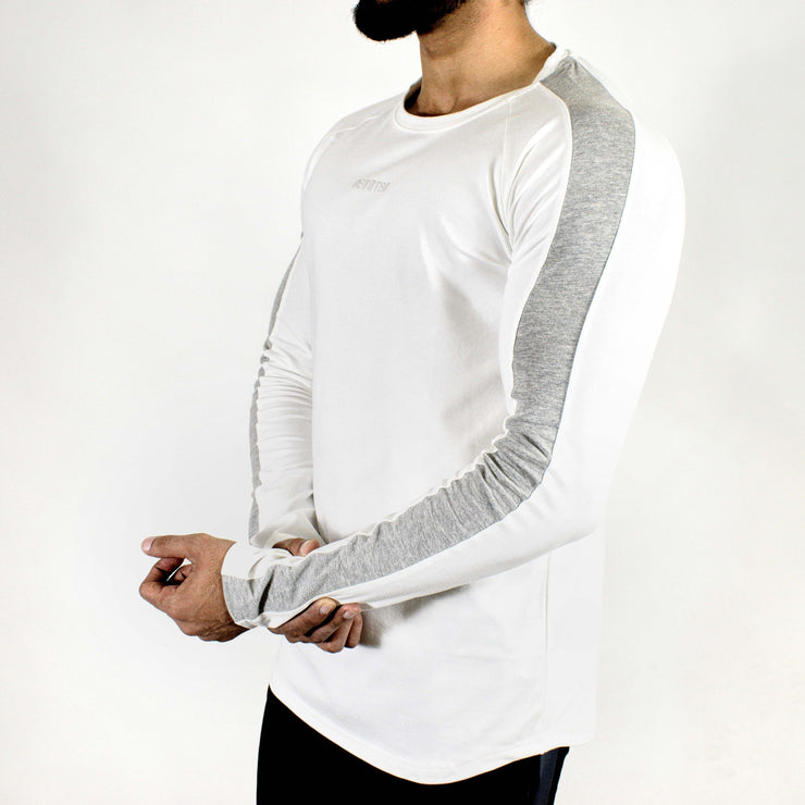 Allure Full Sleeves T-shirt White - Gym Wear - Devoted Wear | Sports Wear - Side