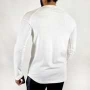 Allure Full Sleeves T-shirt White - Gym Wear - Devoted Wear | Sports Wear - Back