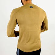 Allure Full Sleeves T-shirt Beige - Gym Wear - Devoted Wear | Sports Wear - Back