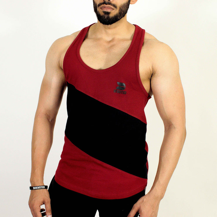 Devoted Allure Stringer V2.0 - Gym wear & Sports clothing - Maroon Front