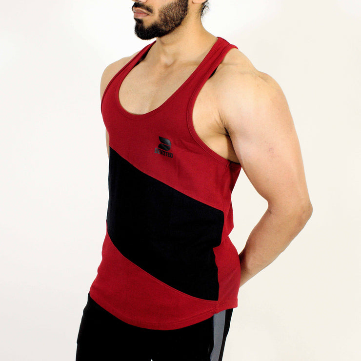 Devoted Allure Stringer V2.0 - Gym wear & Sports clothing - Maroon Side