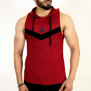 Devoted Allure Sleeveless Hoodie V2.0 - Gym wear  2& Sports clothing - Maroon Front