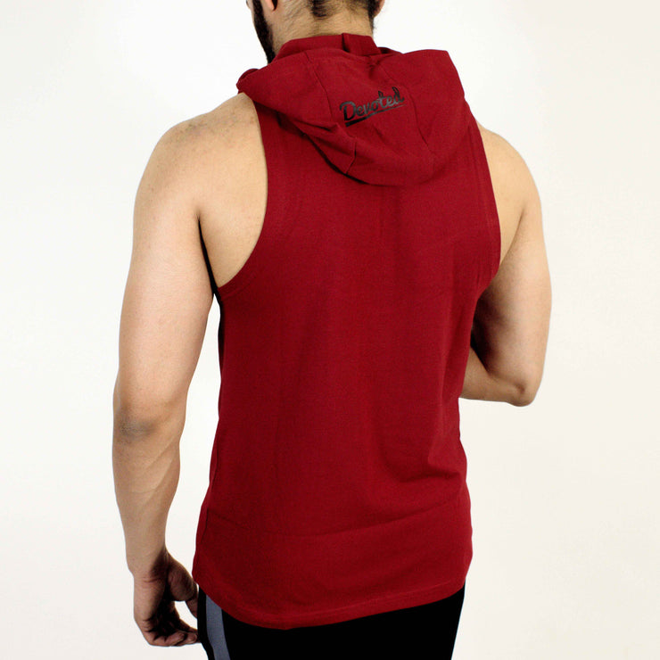 Devoted Allure Sleeveless Hoodie V2.0 - Gym wear & Sports clothing - Maroon Back