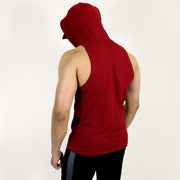 Devoted Allure Sleeveless Hoodie V2.0 - Gym wear & Sports clothing - Maroon Full Back