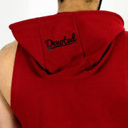 Devoted Allure Sleeveless Hoodie V2.0 - Gym wear & Sports clothing - Maroon Back Closeup