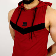 Devoted Allure Sleeveless Hoodie V2.0 - Gym wear & Sports clothing - Maroon Closeup