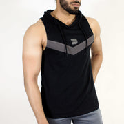 Devoted Allure Sleeveless Hoodie V2.0 - Gym wear & Sports clothing - Black Front 2