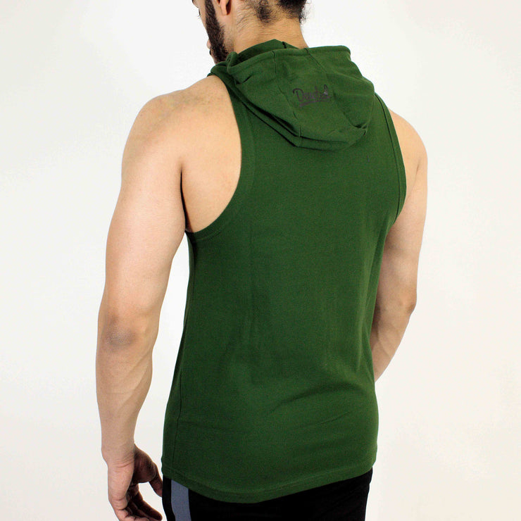 Devoted Allure Sleeveless Hoodie V2.0 - Gym wear & Sports clothing - Forest Green Back