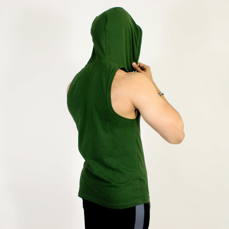 Devoted Allure Sleeveless Hoodie V2.0 - Gym wear & Sports clothing - Green Back Full