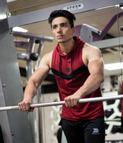 Devoted Allure Sleeveless Hoodies V2.0 - Maroon - Gym wear & Sports apparels x Shaurya Bisht (@ShauryaBisht)