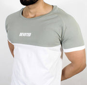 Devoted Duplex Sports T-shirt - Gym wear & Sports clothing - Rhino Grey Closeup